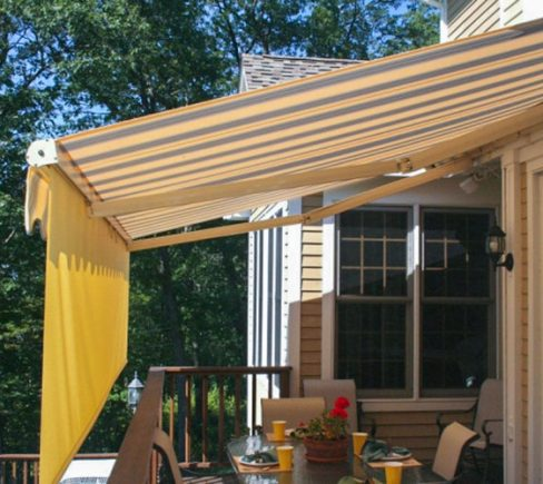 What should I look for when buying awnings?